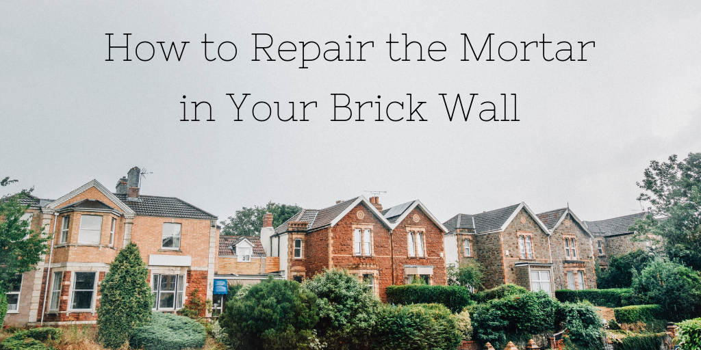 How to repair mortar between bricks
