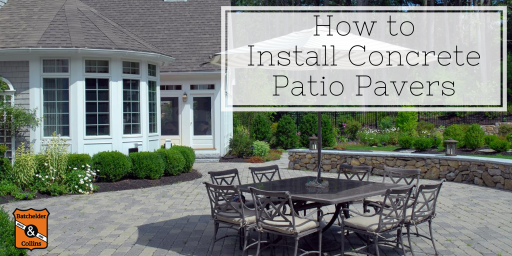 How to Install Concrete Patio Pavers