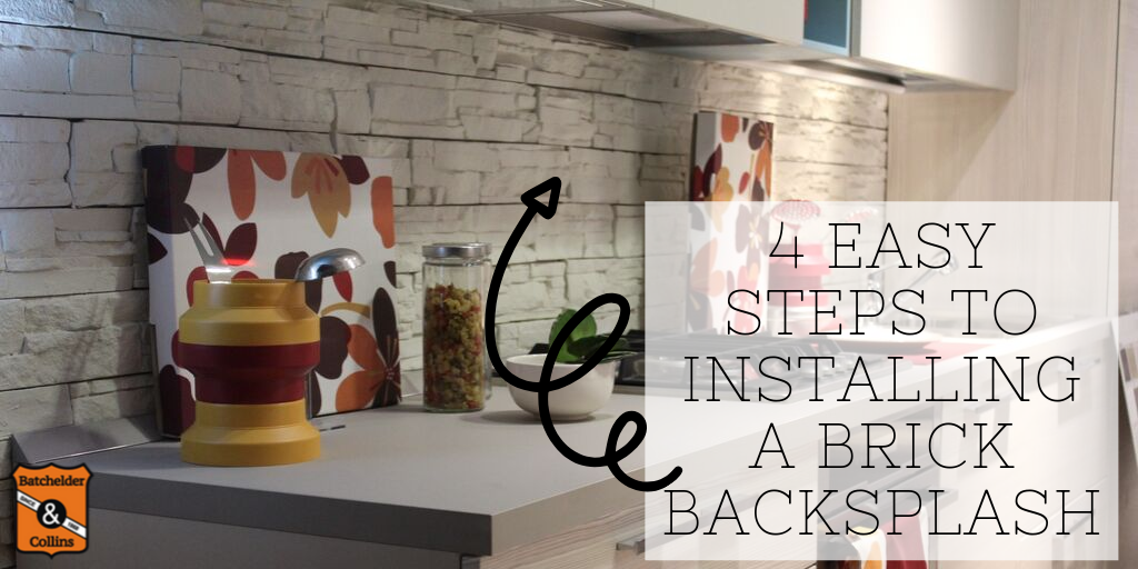 4 Easy Steps to Installing a Brick Backsplash