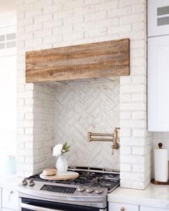 How to update your kitchen's brick backsplash